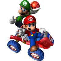 Mario et Luigi kart ballon