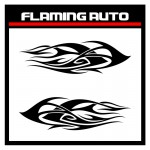 Flaming auto